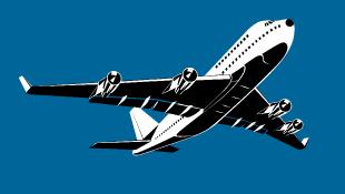 Jet taking off