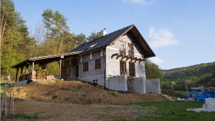 House damage landscape