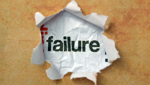 Failure with paper torn around it