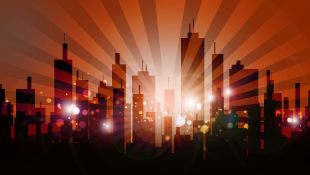Condos City Skyline