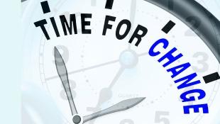 Time for change on clock illustration