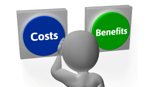 Costs Benefits buttons