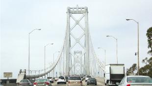 Traffic on bridge