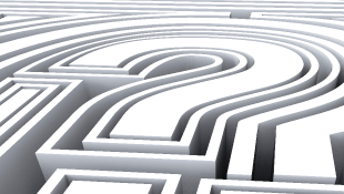 Question mark in maze