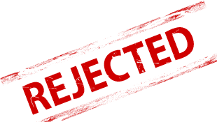 Rejected red stamp