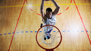 jumping man basketball court