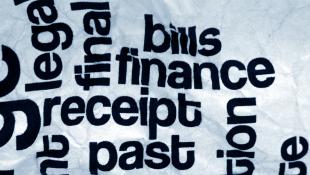 Finance receipt bills money text