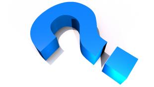 Blue question mark