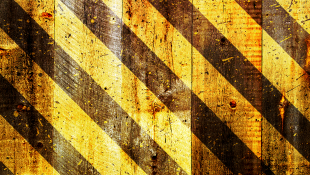 Beware Under Construction Black and Yellow Stripes