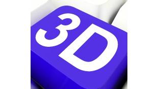 3D blue key from keyboard