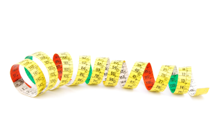 Curly measuring tape