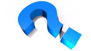 Big blue question mark