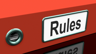 Red rules binder