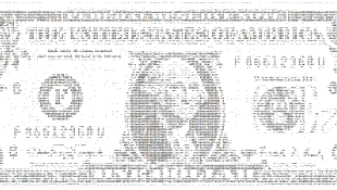 Copy of one dollar bill