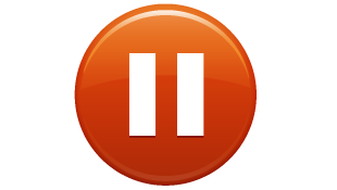 Orange pause circle