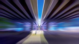 Blurred highway
