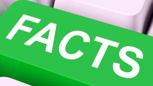 Facts key on keyboard