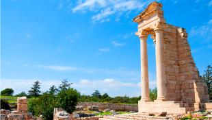 Archaic ruins of sanctuary of apollo hylates