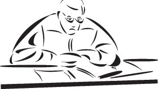 Judge at court illustration