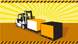 Illustration of truck pulling hazardous materials
