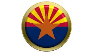Round symbol of Arizona Flag